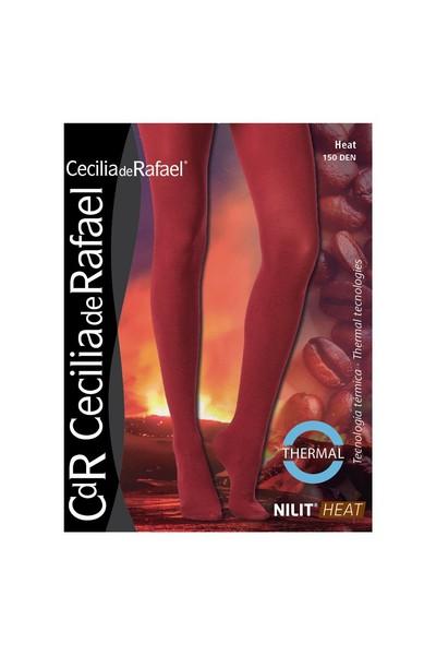 Blickdichte wärmende Thermostrumpfhose Heat von Cecilia de Rafael, 150 DEN, schwarz, Gr. L