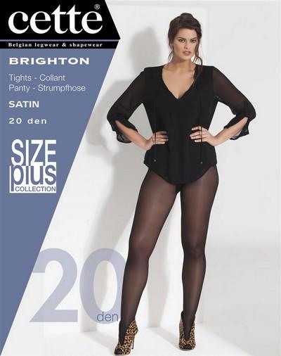 modisches und attraktives Paket um 50 Prozent reduziert gehobene Qualität Glatte Plus Size Strumpfhose mit Seidenglanz Brighton von Cette