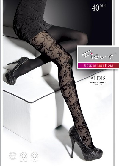 elegante strumpfhose mit floralem muster aldis von fiore. Black Bedroom Furniture Sets. Home Design Ideas