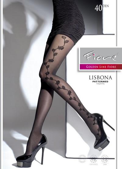 Damenstrumpfhose mit elegantem floralem Muster Lisbona von Fiore