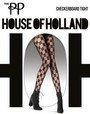 Feinstrumpfhose mit Schachbrettmuster Checkerboard Tight von House of Holland for Pretty Polly, schwarz