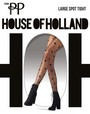 Feinstrumpfhose mit Tupfenmuster Large Spot von House of Holland for Pretty Polly, schwarz