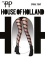 Feinstrumpfhose mit Spiralmuster Spiral Tight von House of Holland for Pretty Polly, schwarz
