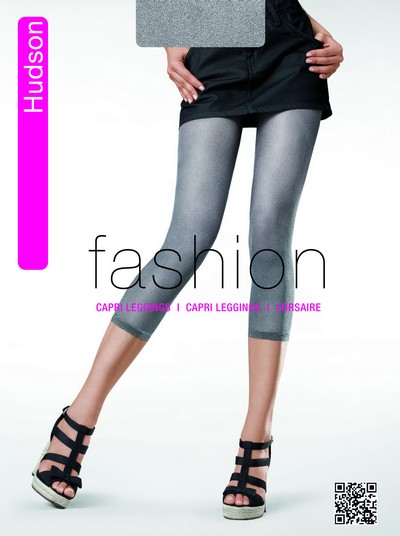 Capri Leggings in angesagter Jeans-Optik Glossy Filet von Hudson 30 DEN