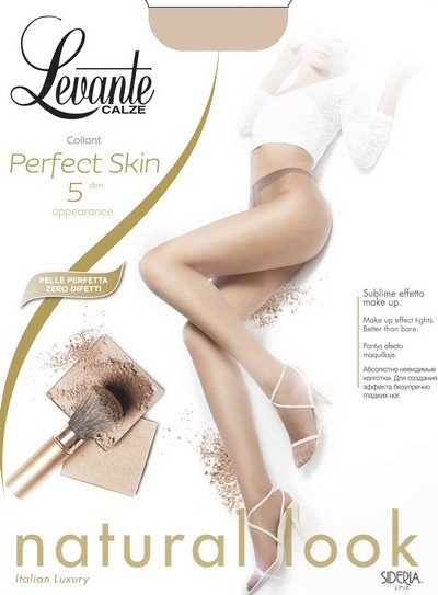 Ultra-transparente Sommerstrumpfhose Perfect Skin von Levante, 5 DEN, naturel, Gr. XL