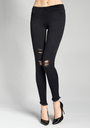 Trendy Leggings in Jeansoptik Jeans Rip 01 von Marilyn, schwarz, Gr. M