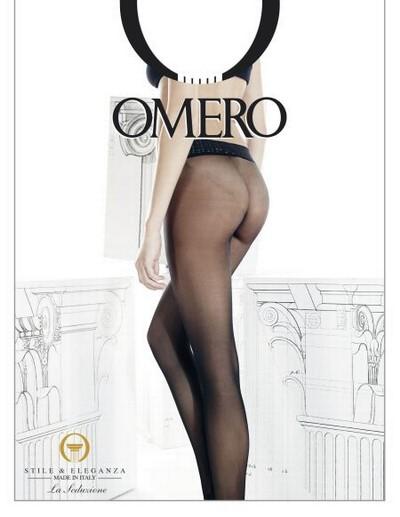 Nahtlose Feinstrumpfhose mit dekorativem Taillenbund Sense von Omero, schwarz, Gr. L