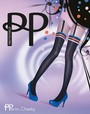 Modische Strumpfhose in Strapsoptik Coloured Suspender & Knicker von Pretty Polly