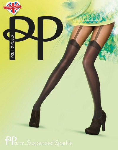 Strumpfhose in angesagter Strapsoptik PPretty ... Suspended Sparkle von Pretty Polly