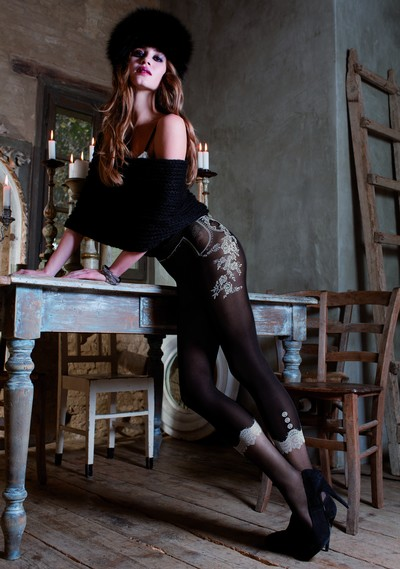 Exclusive Strumpfhose in raffiniertem Leggings-Look Italy von Trasparenze